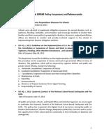 Handout DRRM Policies