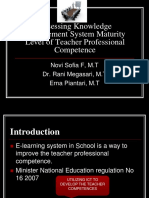 Assessing Knowledge Management System Maturity Level of Teacher Professional Competence