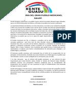 A La Victoria Del Gran Pueblo Mexicano, Salud 02-07-2018
