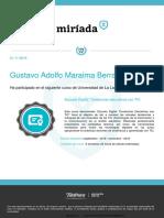 Certificado Escuela Digital Tendencias Educativas Con Tic