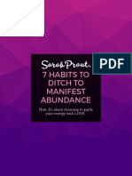 7 Habits to Ditch to Manifest Abundance by Sarah Prout
