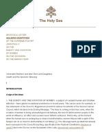 APOSTOLIC LETTER - MULIERIS DIGNITATEM