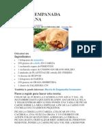 Receta de Empanada Tucumana