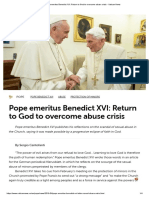 Benedict XVI_ Return to God to Overcome Abuse Crisis