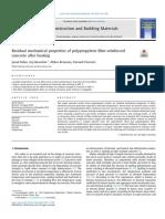 Residual Mechanical Properties of Polypropylene Fiber Reinforced