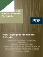 Pulpotomía Con MTA y Cemento Portland