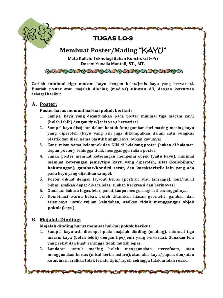Membuat Poster Mading Kayu