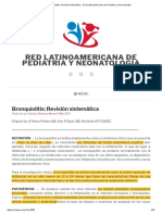 Bronquiolitis_ Revisión Sistemática - Red Latinoamericana de Pediatría y Neonatología