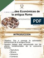 Actividades Económicas de La Antigua Roma