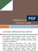 Konsep Keperawatan Kritis (Critical Care)