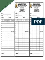 Attendance Sheet (Student Copy) 2018