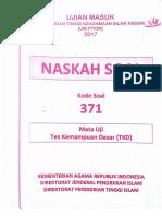 SOAL TES MASUK UIN TKD.PDF