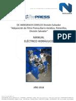 OC 4400185419 Manual Electrico Hidraulico Filtro Prensa