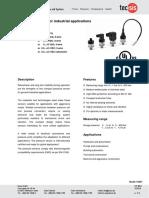 Sensor de Presion TecSis 1Bar