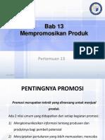Pertemuan 13 Mempromosikan Produk