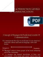stranger prediction levels of communication