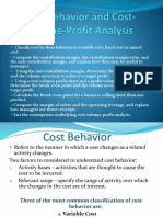 Cost Behaviour and Cost-Volume-Profit Analysis