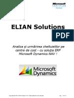 Elian Solutions - ERP Microsoft Dynamics NAV - Analiza Cheltuieli Pe Centre de Cost
