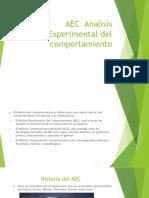AEC Analisis Experimental Del Comportamiento