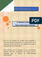 Estudios Epidemiologicos Ecológicos