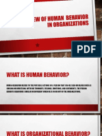 An Overview of Human Behavior in Organizations