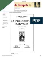 Placide Tempels - Filosofia Bantu