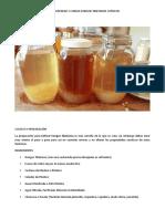 Cultivo y Preparacion Del Kefir de Agua
