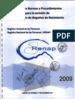 6 Manual Emision Negativa de Nacimiento 2009