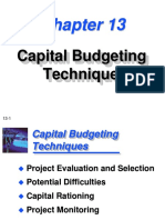 Capital Budegting Techniques