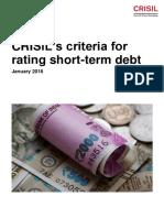 Criteria for Rating Short Term Debt