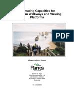 Estimating Pedestrian Capacities for Walkways