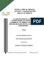 LA CONSTRUCCIÓN DE LA IDENTIDAD DOCENTE DESDE LAS TRAYECTORIAS ACADÉMICAS Y EL GÉNERO