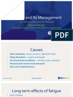 fatigue and its management