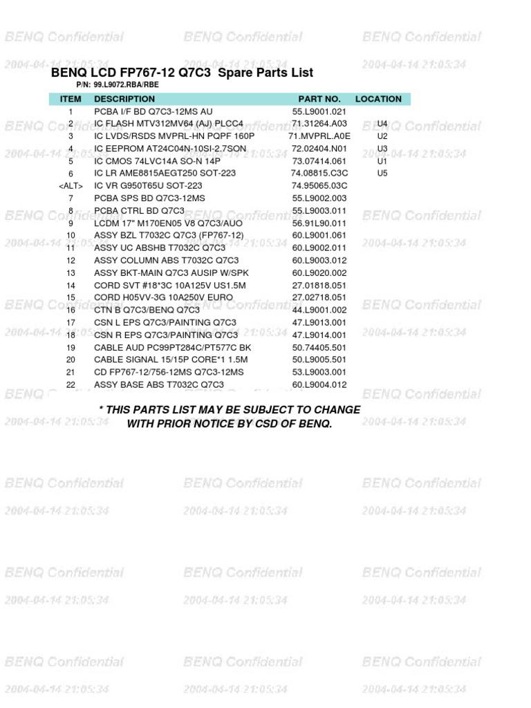 Benq fp767-12 drivers.