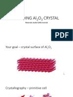 Building Alumina crystal in MS