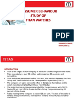 PPT of TITAN  on consumer behaviour