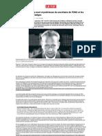 Hammarskjöld et le Dornier Do28 KA3016