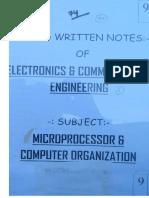 EC 9 MicroProcessor Computer Organisation