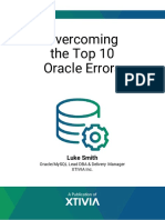 Xtivia Oracle Errors eBook
