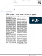 Fano Marine Center, subito due milioni da Napoli - Il Resto del Carlino dell'11 aprile 2019