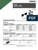 ZX-L-N Laser Displacement Datasheet
