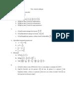 Test Clasa 5 Fractii Ordinare