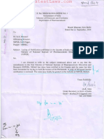 National Institute of Pharmaceutical Education and Research Statues (Amendment) 2014