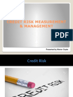 Creditriskmeasurement & Management
