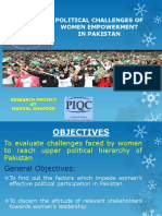 Political Challenges to Women Empowerment in Pakistan