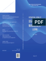 International Journal of Disaster Risk Management Vol. 1, No. 1, Cover Page