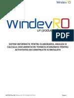 Manual WindevRO 6.9+DevizGeneral
