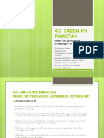 Go Green My Pakistan - Ideas for Plantation Campaigns in Pakistan