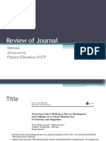 Review of Journal
