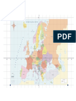 Mapa Europa Cuadriculado